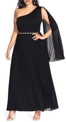 City Chic Paramount One-Shoulder Maxi Dress