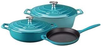 La Cuisine 5-Piece Enameled Cast Iron Cookware Set, Oval Casserole