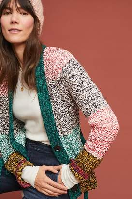 Maeve Colourblocked-Striped Cardigan