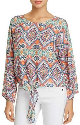 Tolani Ashlyn Printed Tie-Waist Top