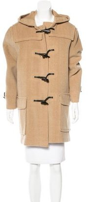 Burberry Wool Leather-Trimmed Coat $375 thestylecure.com