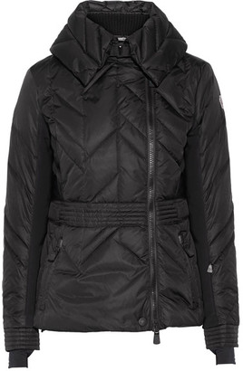 Moncler Grenoble - Marinet Quilted Shell Down Ski Jacket - Black $1,370 thestylecure.com