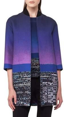Akris Punto Twilight City Bomber Coat