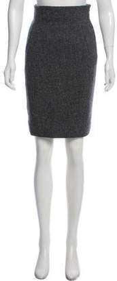Balenciaga Knee-Length Wool Skirt