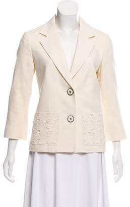 Andrew Gn Embroidered Notch-Lapel Jacket