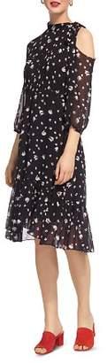 Whistles Printed Cold-Shoulder Dress