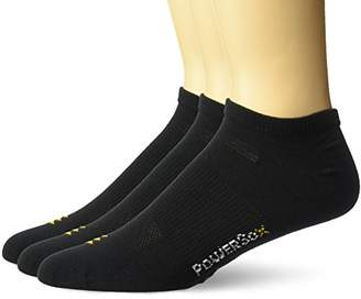 PowerSox Men's No Show Liners with Coolmax
