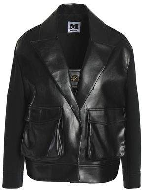Paneled Faux Leather And Neoprene Jacket