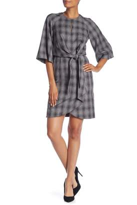 Tahari Plaid Printed Dress
