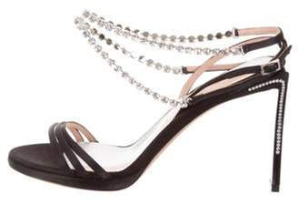 Ballin Alchimia Di 2019 Embellished Satin Sandals Black Alchimia Di 2019 Embellished Satin Sandals