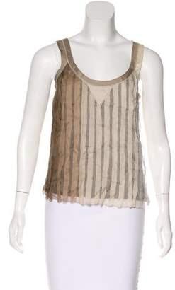 Prada Silk Sleeveless Top