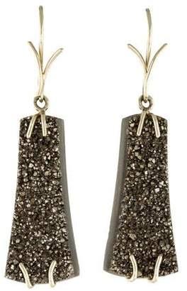 18K Druzy Agate Earrings