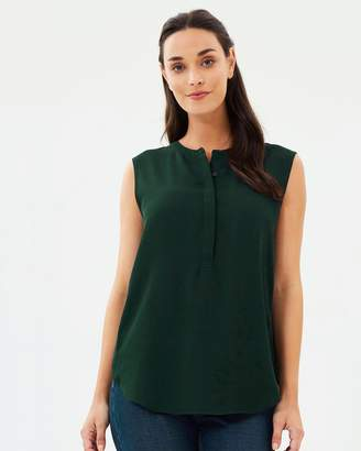 Warehouse Button Side Blouse