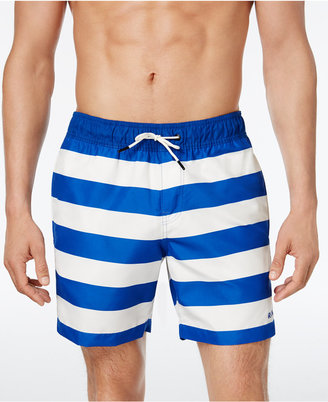 G-Star RAW Men's Dirk Striped Swim Trunks $70 thestylecure.com