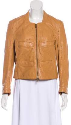 DSQUARED2 Perforated Leather Jacket w/ Tags