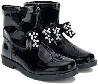 Florens pearl bow boots