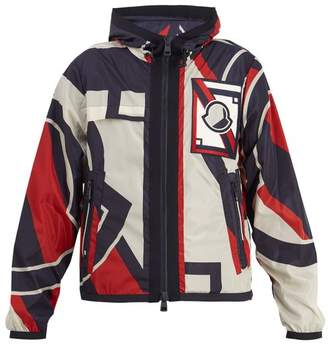 Moncler - Abstract Print Lightweight Hooded Jacket - Mens - Red Multi