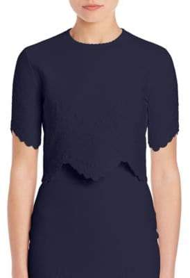 Alexander McQueen Scalloped Crop Top