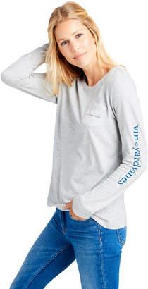 Vineyard Vines Womens Long-Sleeve Breast Cancer Awareness Logo Tee