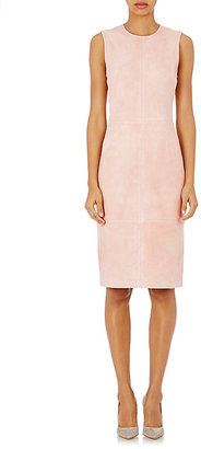 Theory Women's Suede Eano L Sheath Dress-Pink $975 thestylecure.com