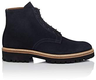 Barneys New York Men's Suede Lace-Up Boots