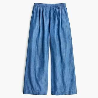 J.Crew Wide-leg cropped chambray pant