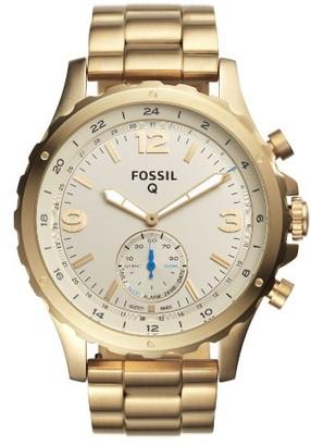 Men's Fossil Q Nate Bracelet Hybrid Smart Watch, 50Mm $175 thestylecure.com