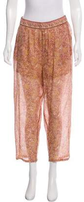 Mes Demoiselles Silk Floral Print Pants w/ Tags