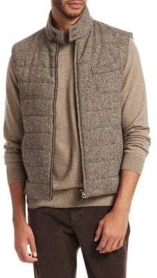 Saks Fifth Avenue COLLECTION Donegal Mixed Media Wool Vest