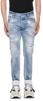 DSQUARED2 Men's Light Piranha Wash Cig Denim Jeans