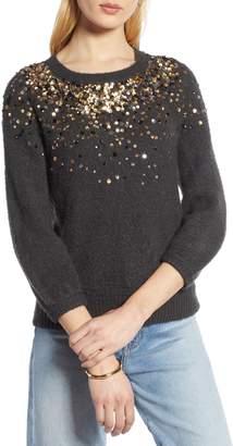 Halogen Sequin Detail Sweater
