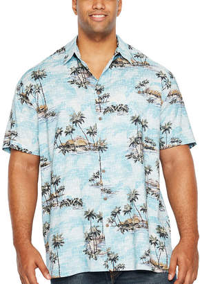 Co THE FOUNDRY SUPPLY The Foundry Big & Tall Supply Foundry Tropicals Short Sleeve Button-Front Shirt-Big and Tall