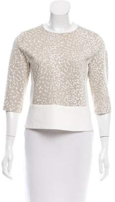 Narciso Rodriguez Printed Scoop Neck Top