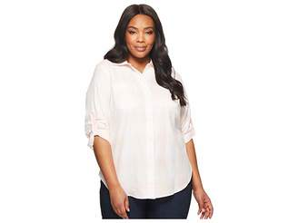 Lauren Ralph Lauren Plus Size Plaid Rolled-Cuff Cotton Shirt