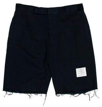 Thom Browne Woven Flat Front Shorts