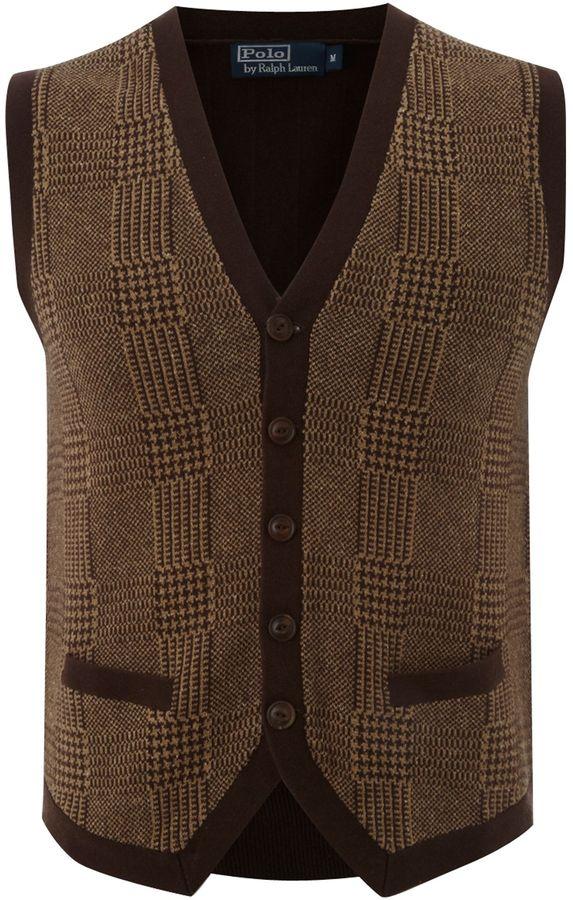 Polo Ralph Lauren Men's V-neck checked tank top