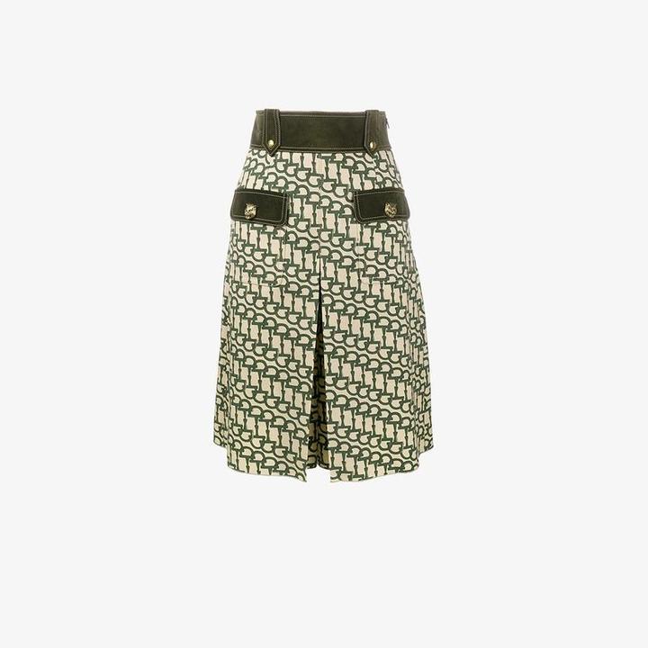 horsebit print knee length shorts