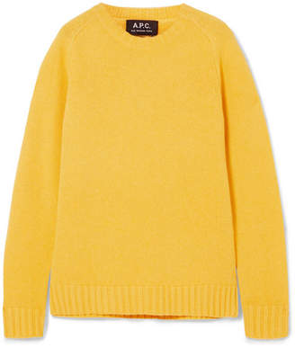A.P.C. Vivian Wool And Cashmere-blend Sweater - Yellow