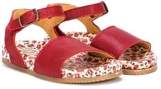 Pépé flower print insole sandals
