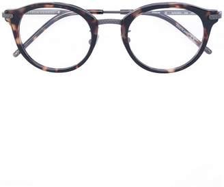 Bottega Veneta tortoiseshell round frame glasses