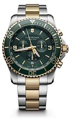 Victorinox Men's 241693 Maverick Chrono Analog Display Swiss Quartz Two Tone Watch