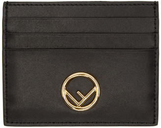 Fendi Black F is Card Holder