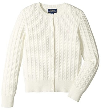 Polo Ralph Lauren Cable Knit Cotton Cardigan (Little Kids/Big Kids)