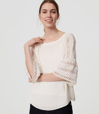 Lace Bell Sleeve Blouse $59.50 thestylecure.com
