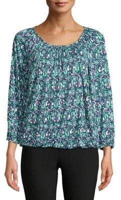 MICHAEL Michael Kors Paisley Wood Peasant Top