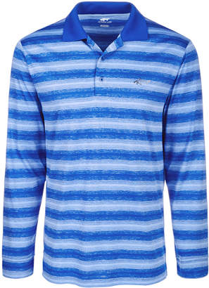 Greg Norman Attack Life by Men's Freemont Stripe Polo