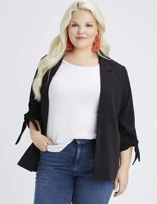 Lea & Viola Classic Blazer Jacket in Black Size X-Large 14/16 Polyester