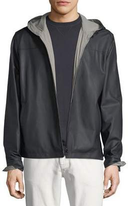 Loro Piana Waterfront Reversible Hooded Bomber Jacket