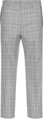 Lanvin Checked Wool-Blend Pants
