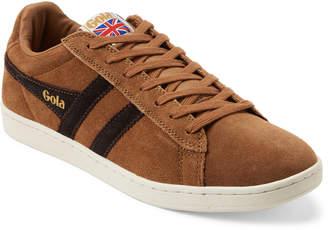Gola Tobacco & Dark Brown Equipe Suede Low-Top Sneakers